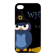 Halloween Witch   Blue Owl Apple Iphone 4/4s Hardshell Case by Valentinaart