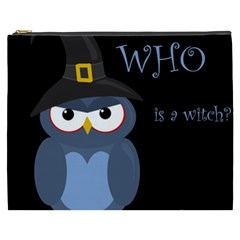 Halloween Witch   Blue Owl Cosmetic Bag (xxxl)  by Valentinaart