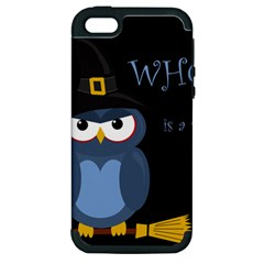 Halloween Witch   Blue Owl Apple Iphone 5 Hardshell Case (pc+silicone) by Valentinaart