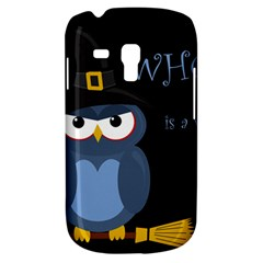Halloween Witch   Blue Owl Samsung Galaxy S3 Mini I8190 Hardshell Case by Valentinaart