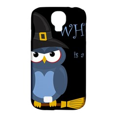 Halloween Witch   Blue Owl Samsung Galaxy S4 Classic Hardshell Case (pc+silicone) by Valentinaart