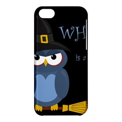 Halloween Witch   Blue Owl Apple Iphone 5c Hardshell Case by Valentinaart
