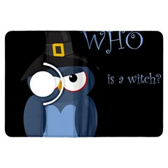 Halloween witch - blue owl Kindle Fire HDX Flip 360 Case by Valentinaart