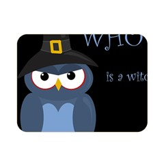 Halloween Witch   Blue Owl Double Sided Flano Blanket (mini)  by Valentinaart