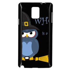 Halloween Witch   Blue Owl Samsung Galaxy Note 4 Case (black) by Valentinaart