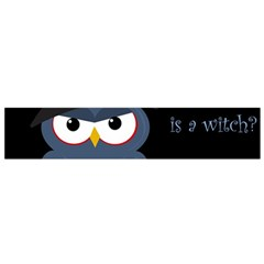 Halloween Witch   Blue Owl Flano Scarf (small) by Valentinaart