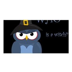 Halloween Witch   Blue Owl Satin Shawl by Valentinaart