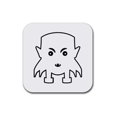 Petit Vampire Cartoon Illustration Rubber Square Coaster (4 Pack)  by dflcprints