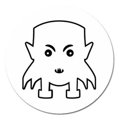 Petit Vampire Cartoon Illustration Magnet 5  (round) by dflcprints