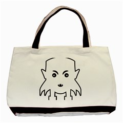Petit Vampire Cartoon Illustration Basic Tote Bag (two Sides) by dflcprints