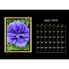 Jane Black And Gold Desktop Calendar (8 5x6) By Deborah   Desktop Calendar 8 5  X 6    Rab6u7z60bsz   Www Artscow Com Jun 2017