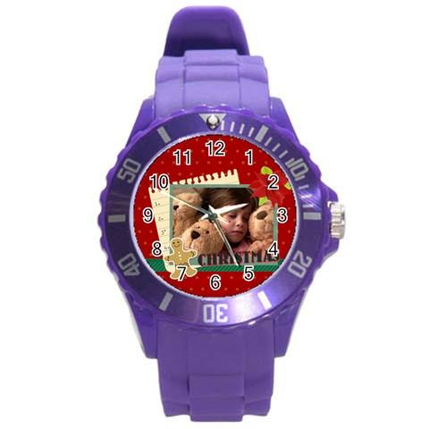 Xmas By 2016   Round Plastic Sport Watch (l)   Razbhcawt343   Www Artscow Com Front