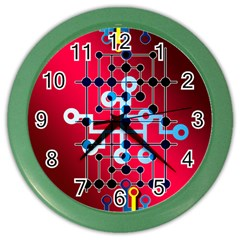 Board Circuits Trace Control Center Color Wall Clocks by Zeze
