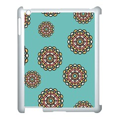 Circle Vector Background Abstract  Apple iPad 3/4 Case (White) by Zeze