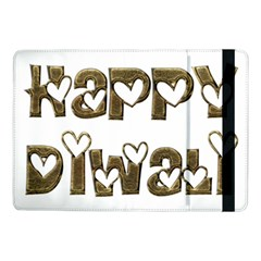 Happy Diwali Greeting Cute Hearts Typography Festival Of Lights Celebration Samsung Galaxy Tab Pro 10 1  Flip Case by yoursparklingshop