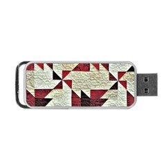 Prize Winning Quilt Triangle Design Portable USB Flash (Two Sides) by Zeze