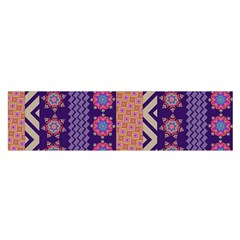 Colorful Winter Pattern Satin Scarf (oblong) by DanaeStudio