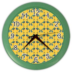 Textile Illustration Fashion Color Wall Clocks by Zeze