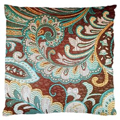 Texture Fabric Pattern Knitted Wear Large Flano Cushion Case (Two Sides) by Zeze