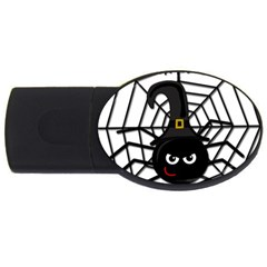 Halloween Cute Spider Usb Flash Drive Oval (2 Gb)  by Valentinaart