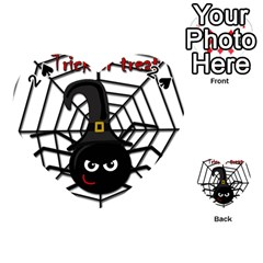 Halloween Cute Spider Playing Cards 54 (heart)  by Valentinaart