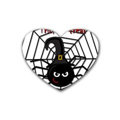 Halloween Cute Spider Heart Coaster (4 Pack)  by Valentinaart