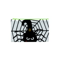 Halloween Cute Spider Cosmetic Bag (xs) by Valentinaart