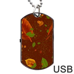 Autumn 01 Dog Tag Usb Flash (two Sides)  by MoreColorsinLife