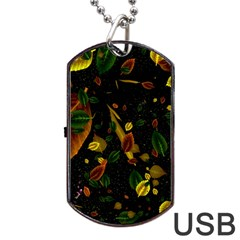 Autumn 03 Dog Tag Usb Flash (two Sides)  by MoreColorsinLife