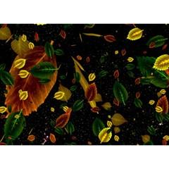 Autumn 03 Birthday Cake 3d Greeting Card (7x5)