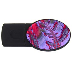 Freaky Friday Red  Lilac Usb Flash Drive Oval (2 Gb)  by Fractalworld