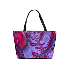 Freaky Friday Red  Lilac Shoulder Handbags by Fractalworld