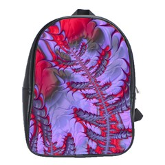 Freaky Friday Red  Lilac School Bags(large)  by Fractalworld