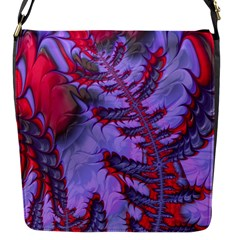 Freaky Friday Red  Lilac Flap Messenger Bag (s) by Fractalworld