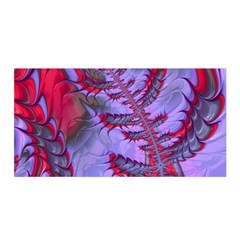 Freaky Friday Red  Lilac Satin Wrap by Fractalworld