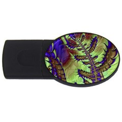 Freaky Friday, Blue Green Usb Flash Drive Oval (2 Gb)  by Fractalworld