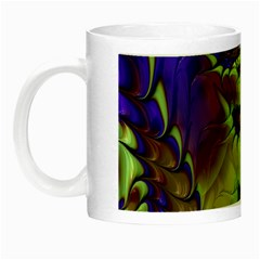 Freaky Friday, Blue Green Night Luminous Mugs by Fractalworld