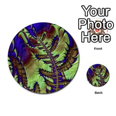Freaky Friday, Blue Green Multi Purpose Cards (round)  by Fractalworld
