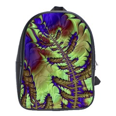 Freaky Friday, Blue Green School Bags(large)  by Fractalworld