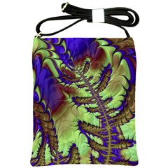 Freaky Friday, Blue Green Shoulder Sling Bags by Fractalworld