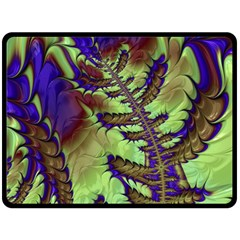 Freaky Friday, Blue Green Double Sided Fleece Blanket (Large)  by Fractalworld