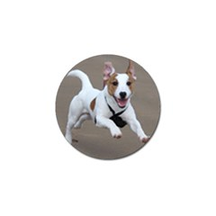 Jack Russell Terrier Running 2 Golf Ball Marker by TailWags