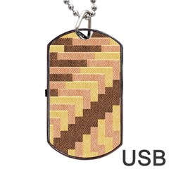 Fabric Textile Tiered Fashion Dog Tag USB Flash (One Side) by Zeze