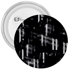 Black And White Neon City 3  Buttons by Valentinaart