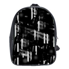 Black And White Neon City School Bags(large)  by Valentinaart