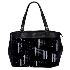 Black And White Neon City Office Handbags by Valentinaart