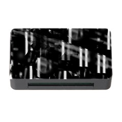 Black And White Neon City Memory Card Reader With Cf by Valentinaart