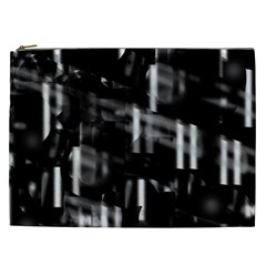 Black And White Neon City Cosmetic Bag (xxl)  by Valentinaart