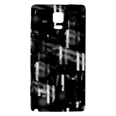 Black And White Neon City Galaxy Note 4 Back Case by Valentinaart