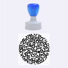 Pink Leopard Rubber Round Stamps (medium) by AnjaniArt